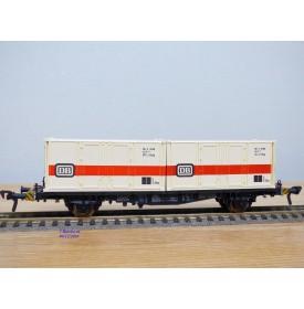 Fleischmann 5232, wagon plat porte conteneurs Lbs 598  BTmms   DB   neuf  BO