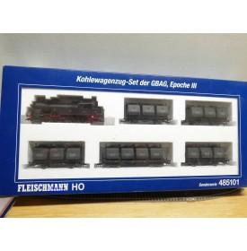 FLEISCHMANN  485101, coffret  train de charbon  Kohlewagenzug   GBAG    neuf    BO