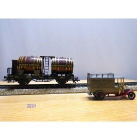 Märklin Museum 1991  84432 90701, wagon bi foudres et camion  AUGUST PFLÜGER    K.W.Sts.E.  Neuf   BO