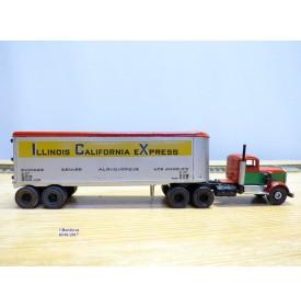 ULRICH  ???, kit en métal  monté d' un tracteur et de sa semi remorque Illinois California Express