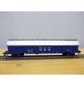 AHM ( Taiwan ) 5204C, original wagon à toit ouvrant chargé de coils   Norfolk and Western  NW    neuf     BO