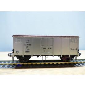 FLEISCHMANN 1479   wagon couvert  type  Hcg gris argent    FS  neuf   BO