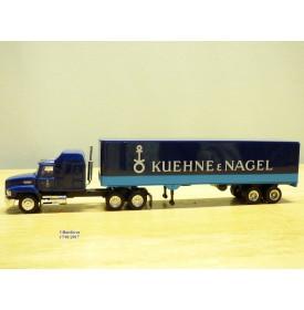 HERPA  140737,  camion et semi remorque MACK   KUEHNE & NAGEL   Neuf   BO  1/87