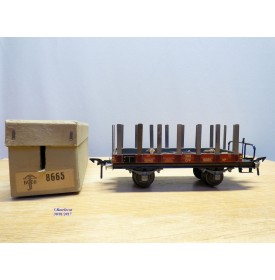 BUCO 8665, wagon plat à ranchers ( amovibles à à plate forme de serre freins    SBB    BO