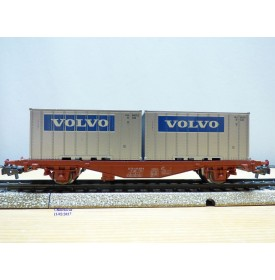 Märklin 4765, wagon porte containers  type Lgjs  et conteneurs VOLVO   SJ   neuf  BO