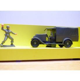 SOLIDO 6023, fourgonnette bâchée Renault  KZ et figurines    Neuf   BO