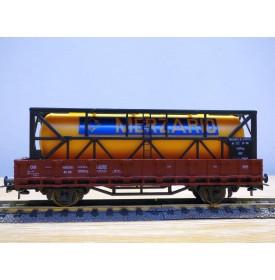 ROCO 4306,  wagon plat chargé d'un conteneur  citerne de 20'  DB   BO