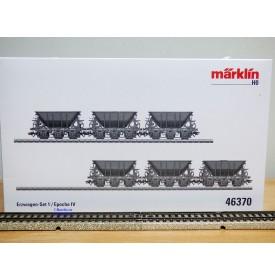 Märklin  46370, coffret 6 wagons trémie minéraliers à 3 essieux Kiruna - Narvik   SJ    neuf  BO