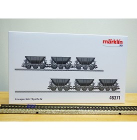 Märklin  46371, coffret 6 wagons trémie minéraliers à 3 essieux Kiruna - Narvik   SJ    neuf  BO