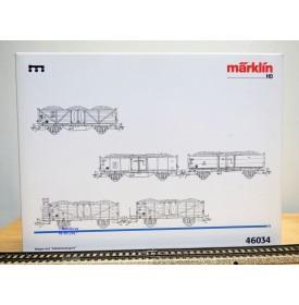 Märklin 46034, coffret  5 wagons et chargements de charbon  Kohlentransport  DB  neuf  BO