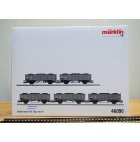 Märklin  46096, coffret 5 wagons tombereaux  type P chargé de charbon et coke    DSB  neuf  BO