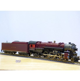 AHM  Premier Production Run 5087-11 / Rivarossi  véro  17222 ,  locomotive  heavy Pacific  4 6 2  N°: 5299 ALTON    Neuf    BO