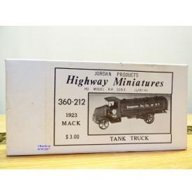 JORDAN Highway Miniatures 360-212, camion citerne  MACK  1923  Standard Oil  Neuf  BO  1/87 HO