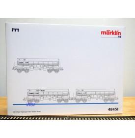 Märklin 48451, coffret  3 wagons à benne basculante type Fas 126   DB  neuf  BO