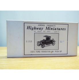 JORDAN Highway Miniatures C-213, camionnette   1925  FORD  Roadster  Neuf  BO  1/87 HO