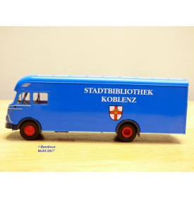 BREKINA 57900, camion FORD  FK  Stadtbibliothek  Koblenz   Neuf   BO  1/87
