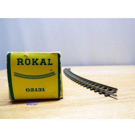 ROKAL  02131,  boîte de 12 rails courbes  R : 572 mm  neuf  BO