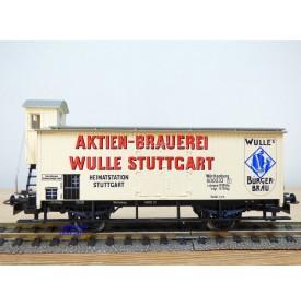 HAMO ( Märklin pour Fleischmann ) 8478, wagon couvert à guérite WULLE  Stuttgart   K.W.Stb.   BO