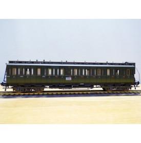 FLEISCHMANN 5086, voiture ancienne à portières latérales  à guérite type  Gas 14801 3 Kl.  DR  neuf   BO