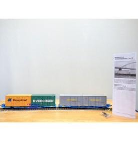 BRAWA 2300, couplage de wagons surbaissés Megafrêt  AAE    neuf    BO