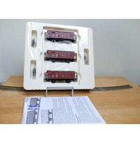 BRAWA 48217, coffret de 3 wagons ambulances type G 10 SBB    neuf    BO