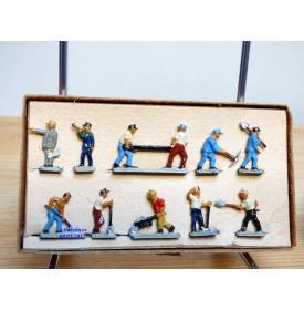 Märklin métal 404 Gc , coffret de 10 personnages ouvriers de la voie BO
