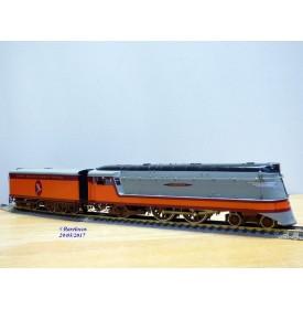 Overland Models ( OMI ) / Ajin 1462,  loco Atlantic  4-4-2   ( 221 ) série  A  carénée  Hiawatha  Milwaukee Road   neuf   BO