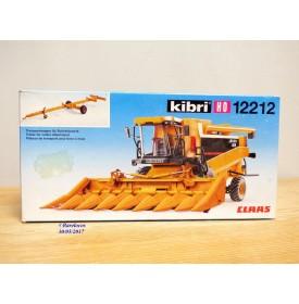 """KIBRI  """"echt """" 12212, Kit moissoneuse batteuse pour maïs  CLASS Lexion   avec remorque pour bec  à maïs   Neuf  BO  1/87 HO"""