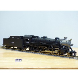 KEY Imports CS 3 , loco Mikado  2-4-2 (141) Class MK-63   N°: 1310  MISSOURI PACIFIC   MP    BO