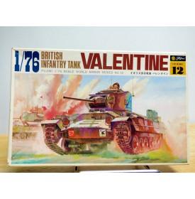 FUJIMI wa12,  char  d' infanterie britannique  VALENTINE    Neuf   BO   1/76