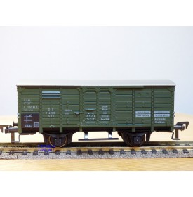 FLEISCHMANN 1464G, wagon atelier / dortoir à  2  essieux  type G10 pour grue Krupp Ardelt   DB  neuf    BO
