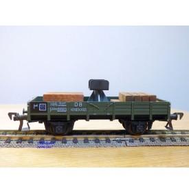 FLEISCHMANN 1451A, wagon plat  à  2  essieux  support de flêche  pour grue Krupp Ardelt   DB  neuf    BO