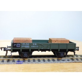 FLEISCHMANN 1451H, wagon plat  à  2  essieux   pour grue Krupp Ardelt   DB  neuf    BO
