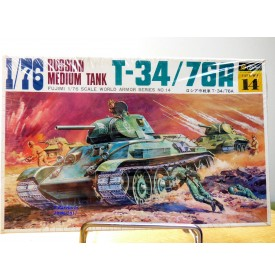 FUJIMI wa14,  char  moyen  soviétique T-34 / 76A   Neuf   BO  1/76