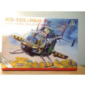 ITALERI 601, Hélicoptère anti char BO-105 / PAH-1  Neuf   BO   1/32