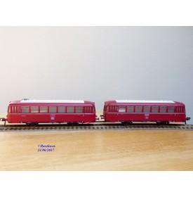 FLEISCHMANN  1370 / 2,  couplage de 2 remorques pour autorail ( Schienenbus )  VB et VS 98    DB  neuf  BO