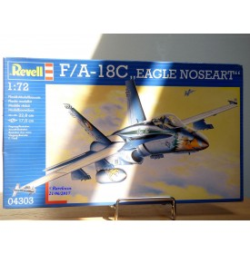 "REVELL  4303, chasseur multirôlr MAC DONNELL DOUGLAS  F/A-18C  "" Eagle Noseart ""   BO  Neuf   1/72"
