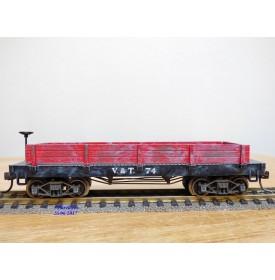 POCHER  270 / 2 , wagon tombereau  ancien ( old time gondola  car )   V&T  RR  N°: 74    BO