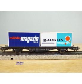 Märklin 84670, wagon porte containers type Berlin  et conteneurs Märkjlin Magazin     DB   neuf    BO