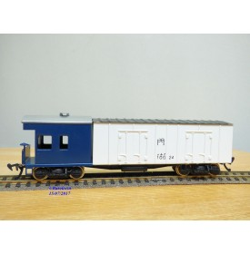 TER  ???, rare wagon mixte  réfrigérant / cabine  à bogies N° : 100 24   JNR   BO