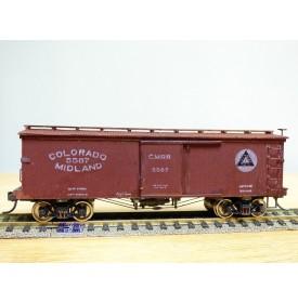 CENTRAL VALLEY  B 97, wagon couvert ( boxcar ) ancien en bois Colorado Midland   BO