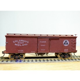 CENTRAL VALLEY  B 97, wagon couvert ( boxcar ) ancien en bois Colorado Midland   BO