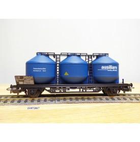 ELECTROTREN  1604,  wagon à 3 silos pour pulvérulents  type Us  AUSILIARE   FS        BO