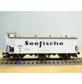 FLEISCHMANN 5381 K, wagon couvert à 3 essieux  SEEFISCHE   DR   neuf   BO