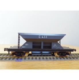 Fleischmann 5234 wagon plat porte conteneurs Lbs 598 World Travel Agency DB BO