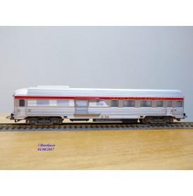 JOUEF  8650, voiture grandes lignes inox mixte 1 Cl. / fourgon  A2Dtux  éclairé  TEE PBA   SNCF   neuf   BO