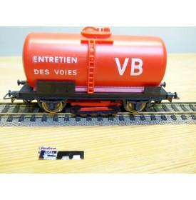 JOUEF 6495, wagon citerne nettoyeur de rails  à  2 essieux  type   SNCF  neuf   BO