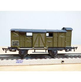 JEP 6662,  wagon couvert à bagages à guérite  SNCF
