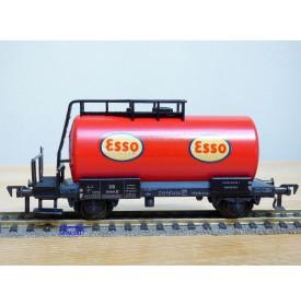 FLEISCHMANN 1475 E,  wagon citerne ancien  à plate forme de serre freins  ESSO    DB   neuf    BO