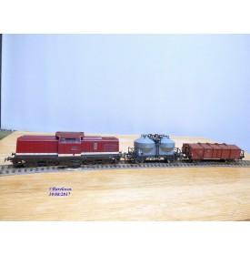 PIKO  0724,   coffret BR 110 et 2 wagons DR    BO